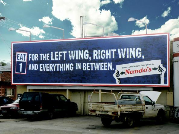Nando's Election Billboard