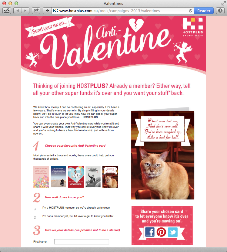 Hostplus Valentine's Day